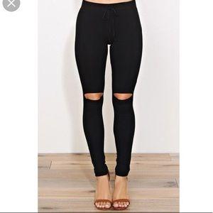 Black Drawstring Pants Sz. XS